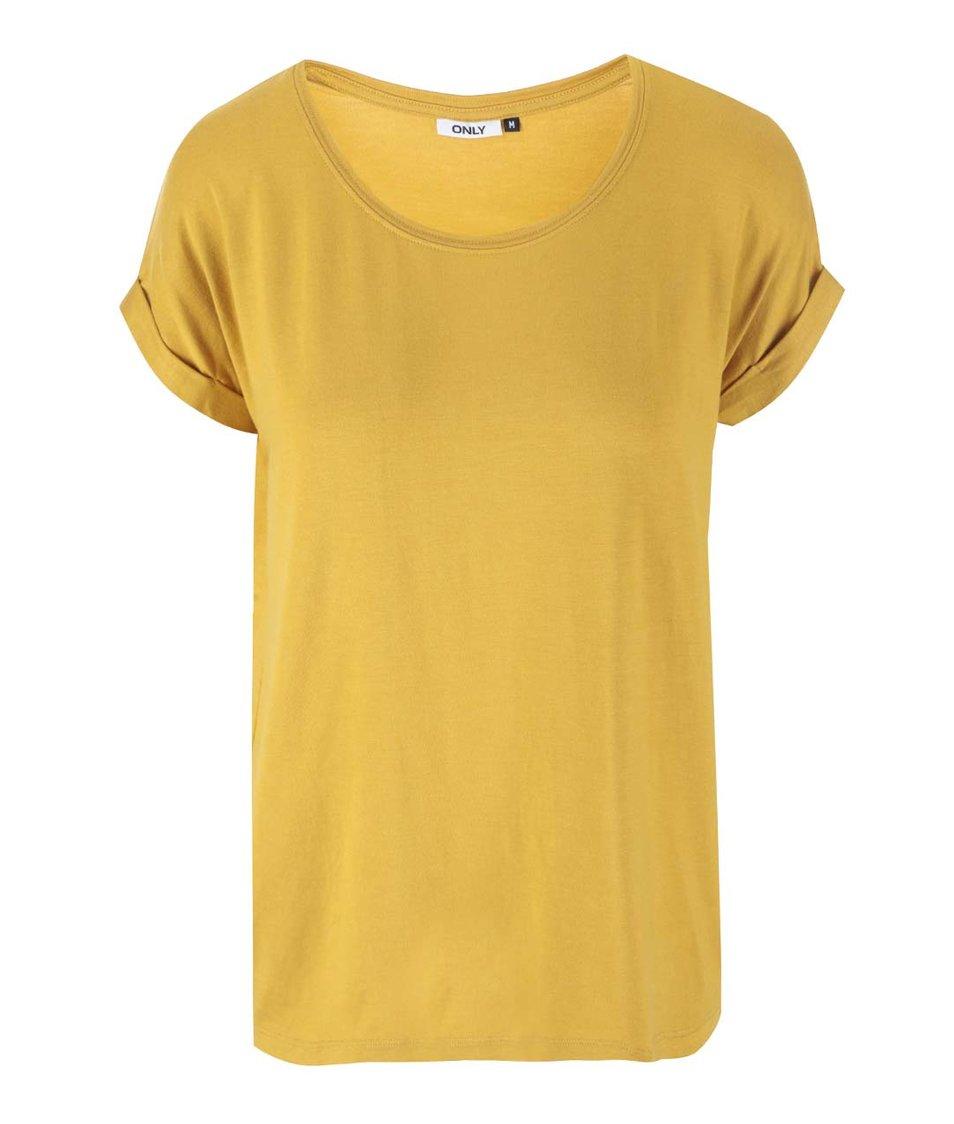 Tmavě žluté tričko ONLY Moster