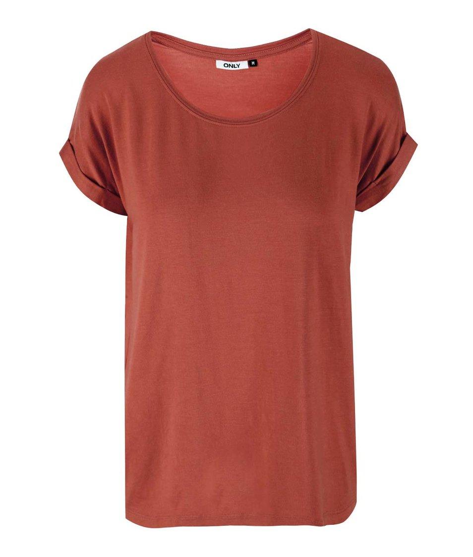 Červené ovesized tričko ONLY Moster
