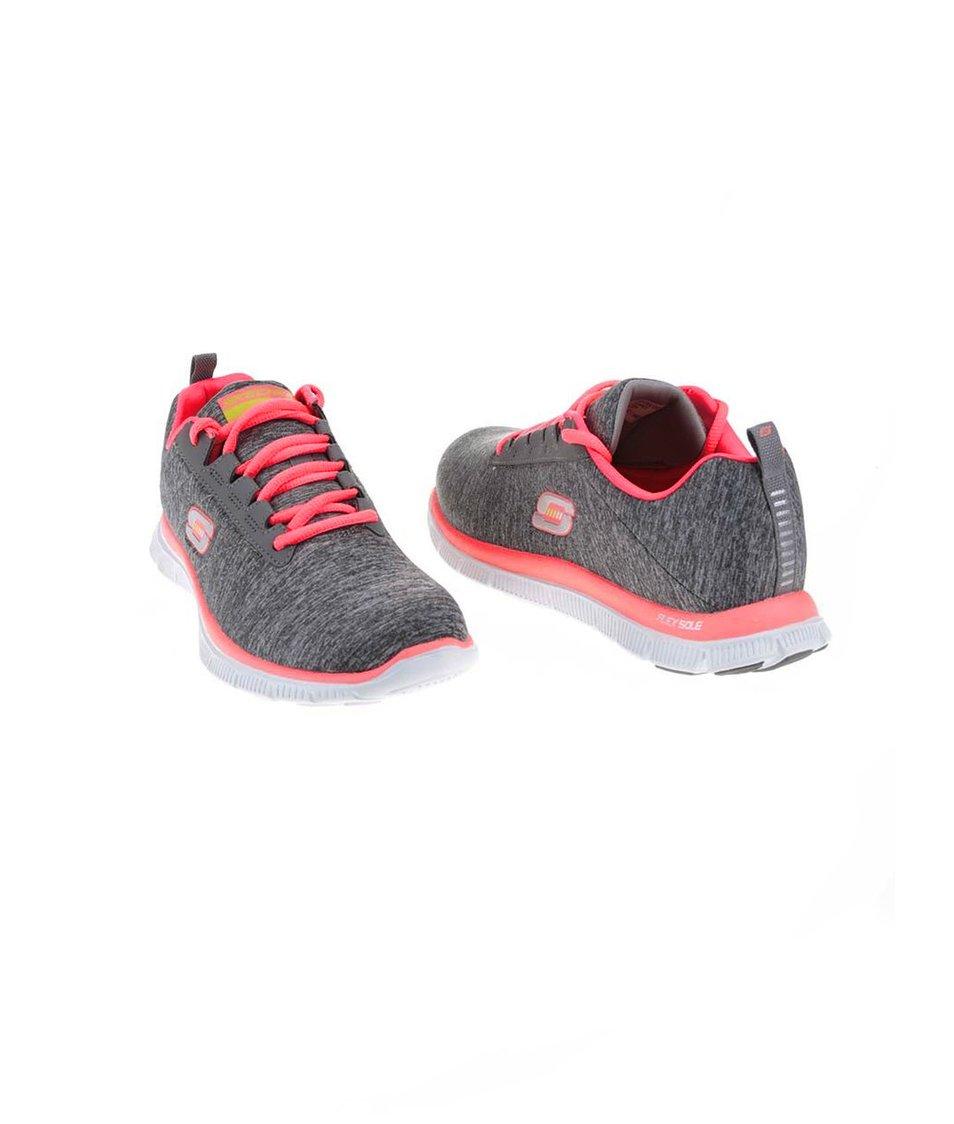 a88cbd2cbc7 ... Růžovo-šedé dámské sportovní tenisky Skechers Next Generation ...