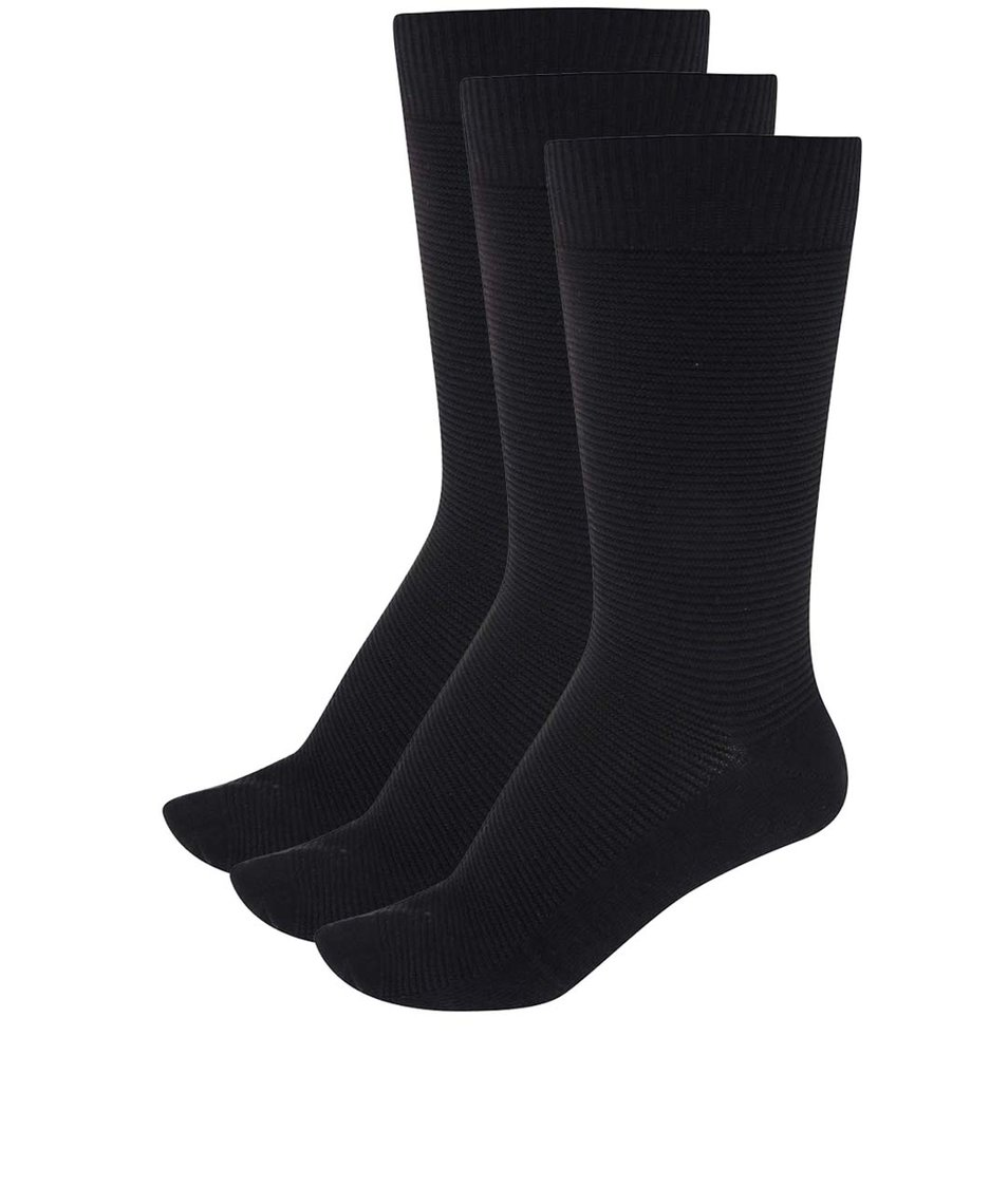 Set tří černých pánských ponožek !Solid Jonas