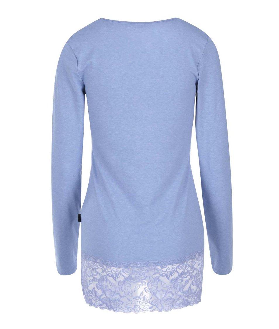 Modré tričko s dlouhým rukávem Madonna Lace