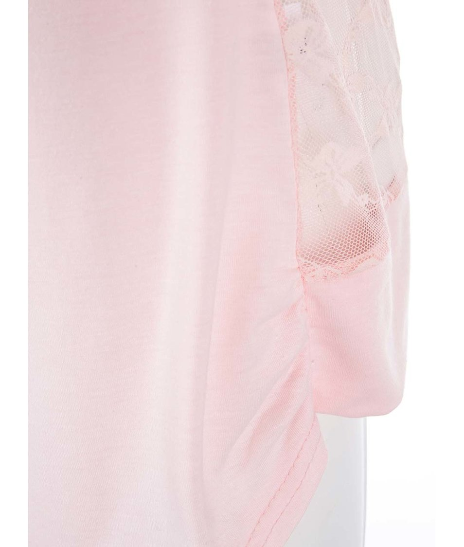 Růžový cardigan s krajkovanými zády Madonna Elie