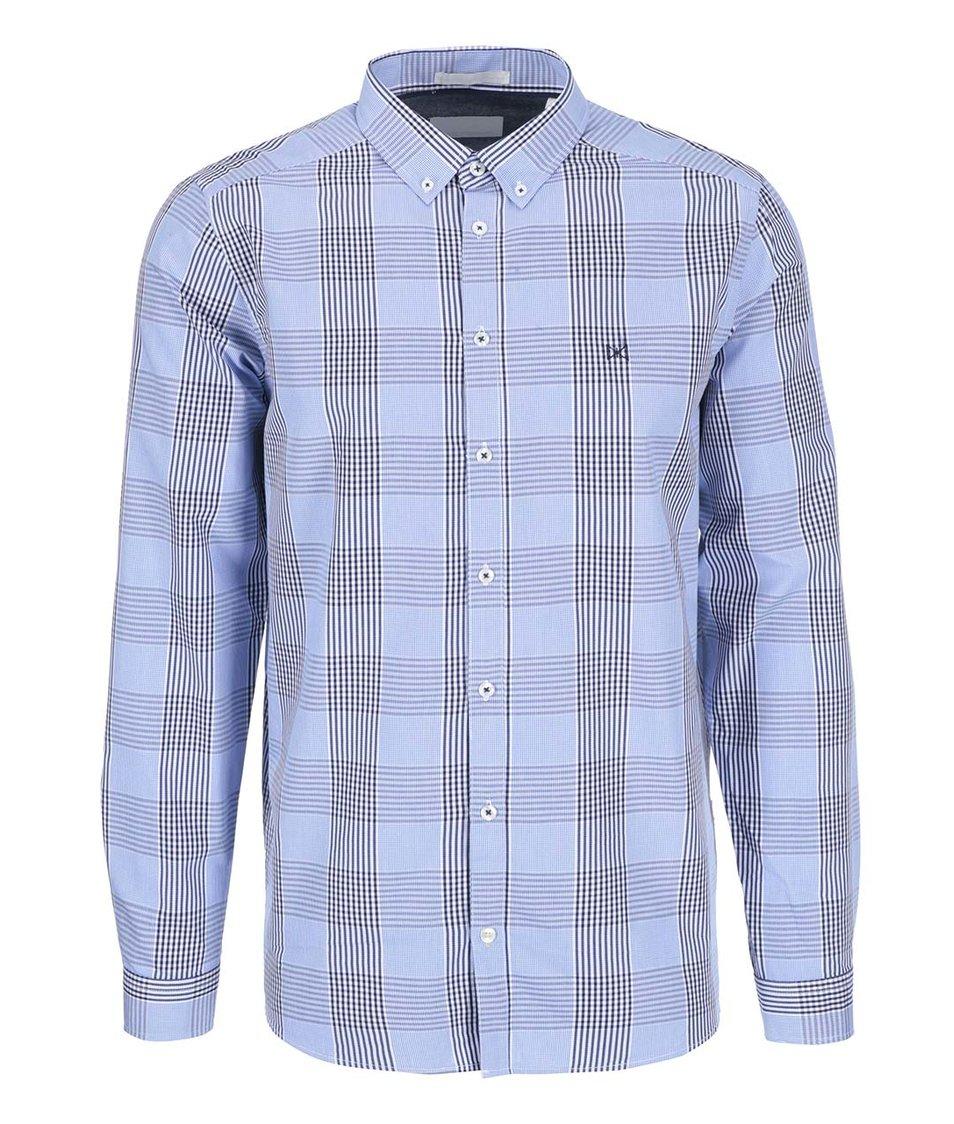 Světle modrá kostkovaná košile Tailored & Originals Fullham Check