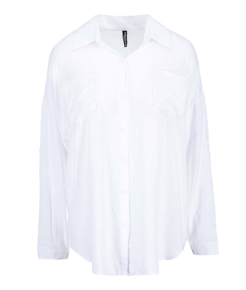 Bílá volná košile se zipem na zádech Madonna Fundaturn Up