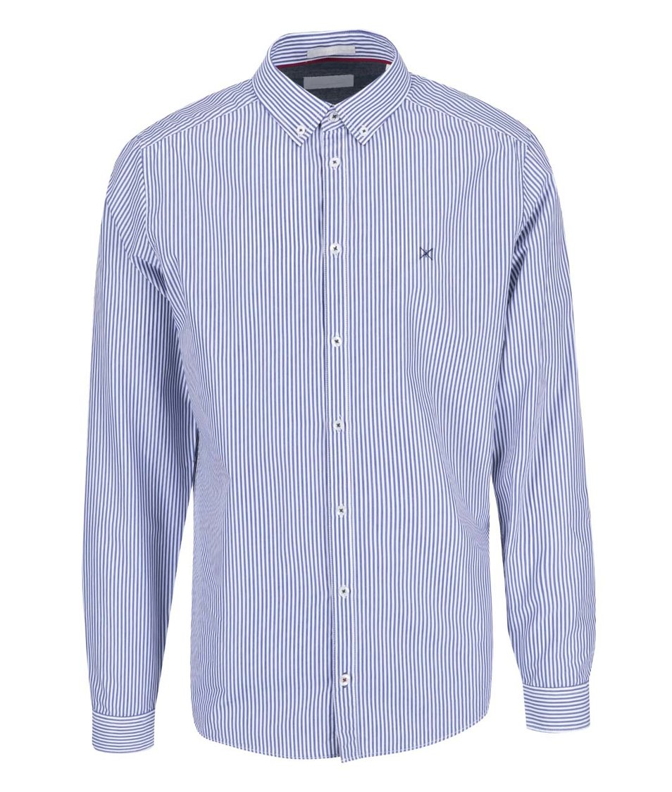 Bílo-modrá pruhovaná košile Tailored & Originals Fullham Stripe
