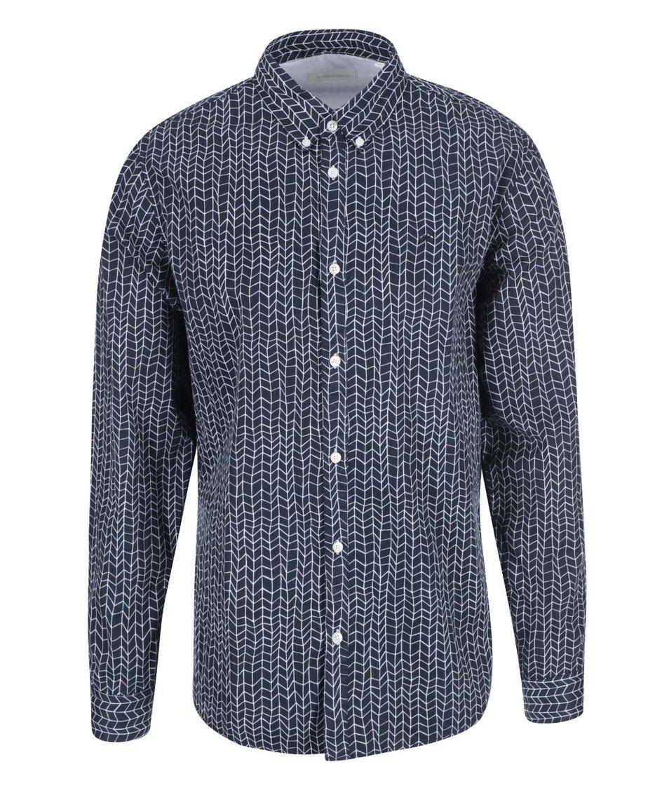 Tmavě modrá vzorovaná košile Tailored & Originals New Steps