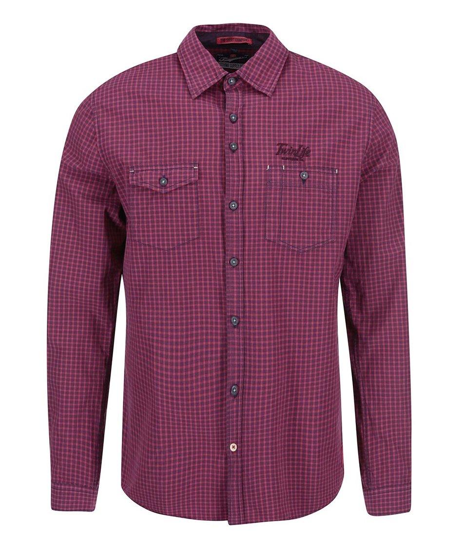 Červená regular fit košile Twinlife