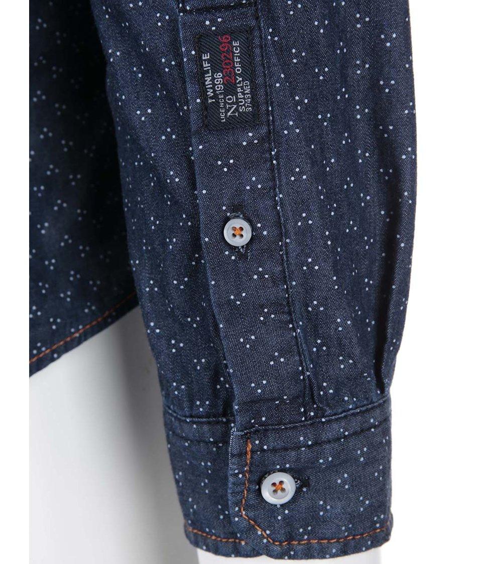 Tmavě modrá denimová regular fit košile Twinlife