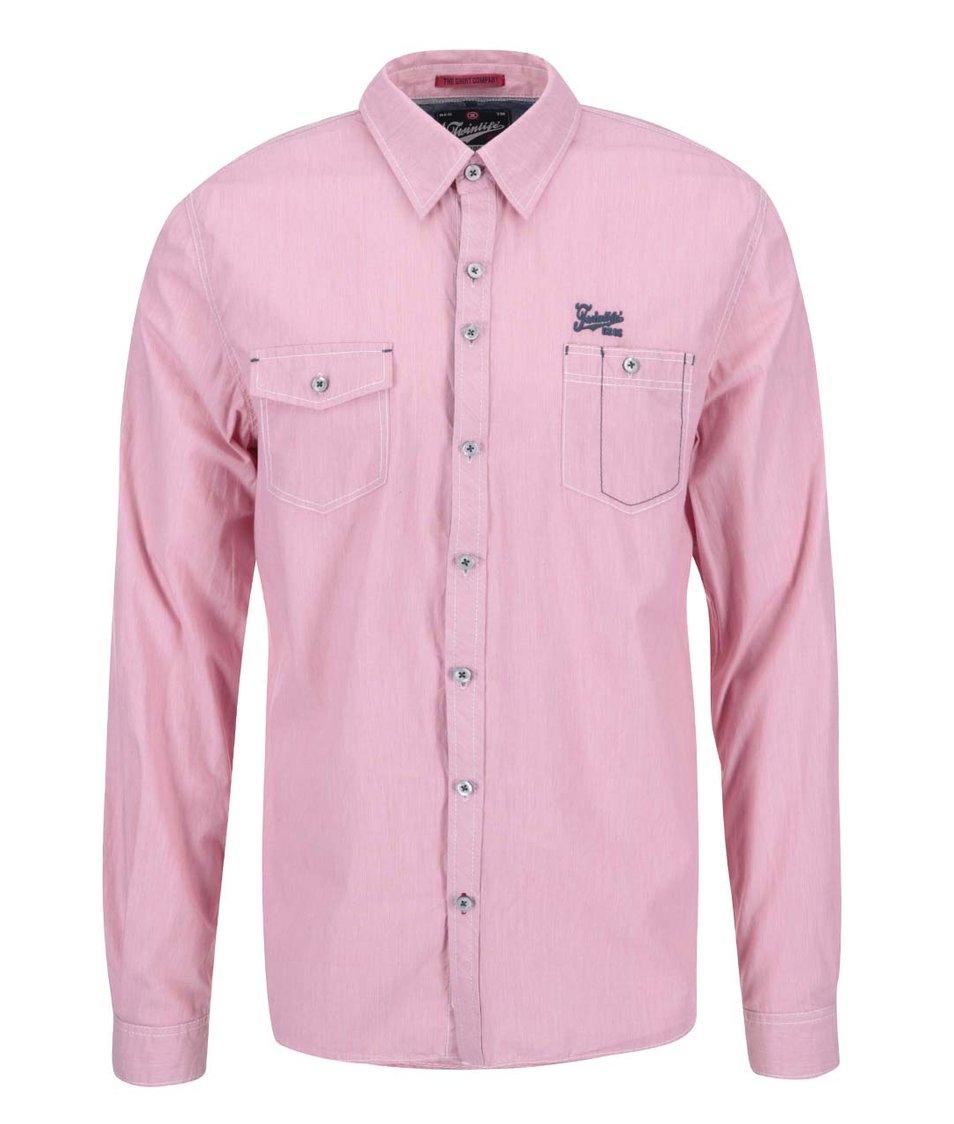 Růžová regular fit košile Twinlife