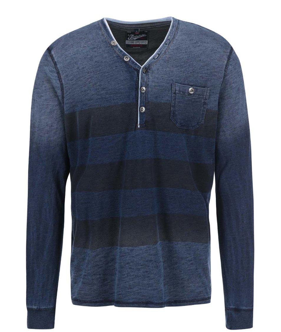 Modré žíhané triko s tmavými pruhy Twinlife