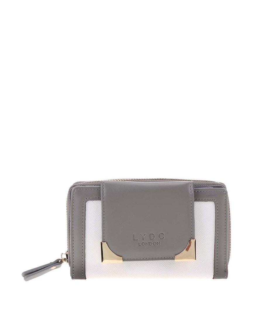 Bílo-šedá peněženka LYDC