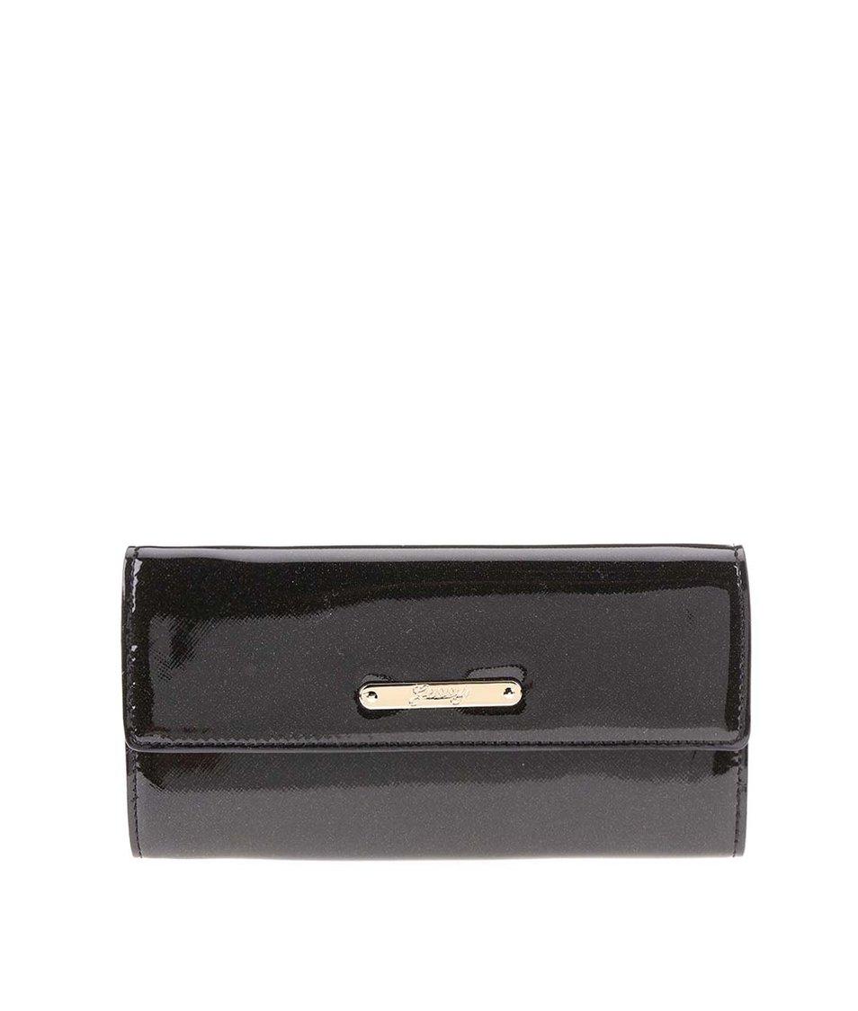 Černá lesklá peněženka Gessy