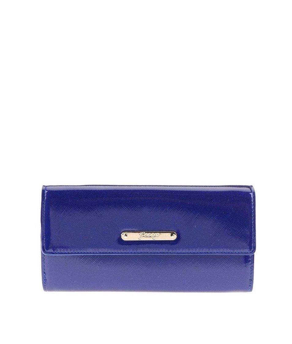 Tmavě modrá lesklá peněženka Gessy