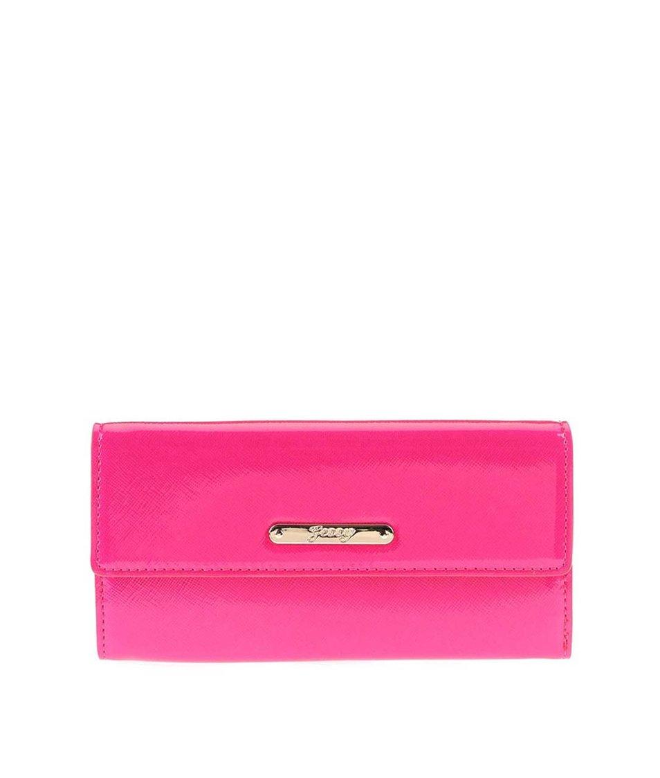 Růžová lesklá peněženka Gessy