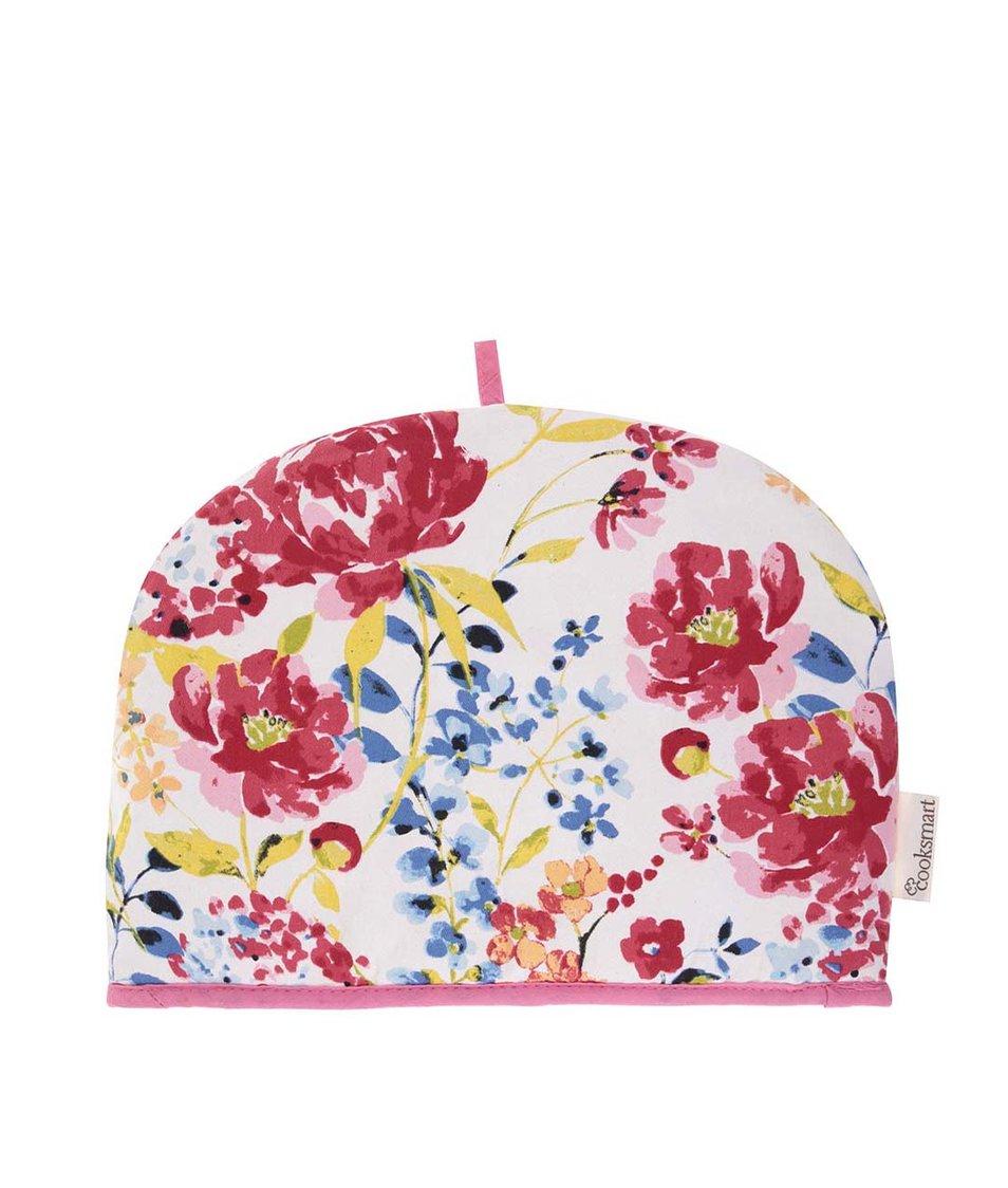 Bílo-růžová květovaná čepice na konvici Cooksmart Floral Romance