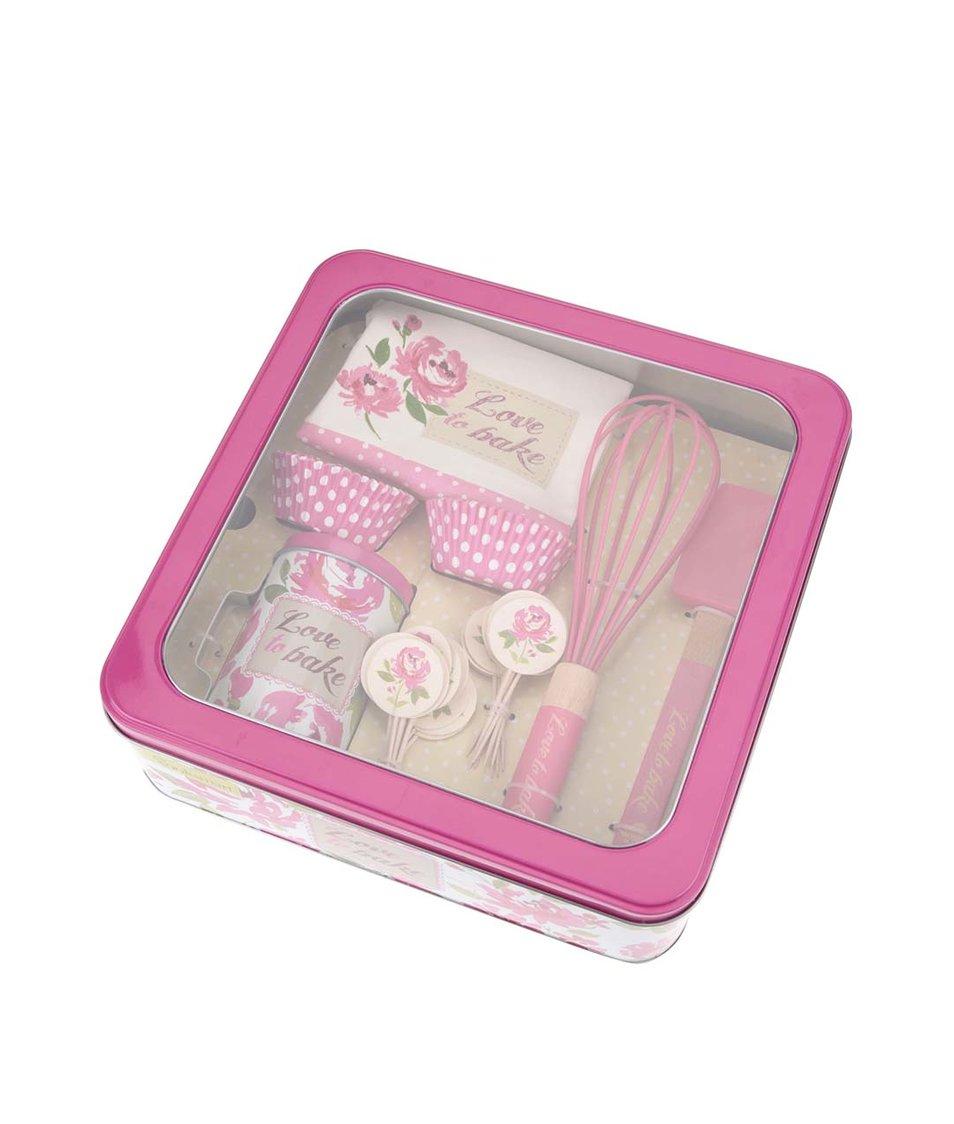 Růžový set kuchyňského náčiní Cooksmart Love To Bake
