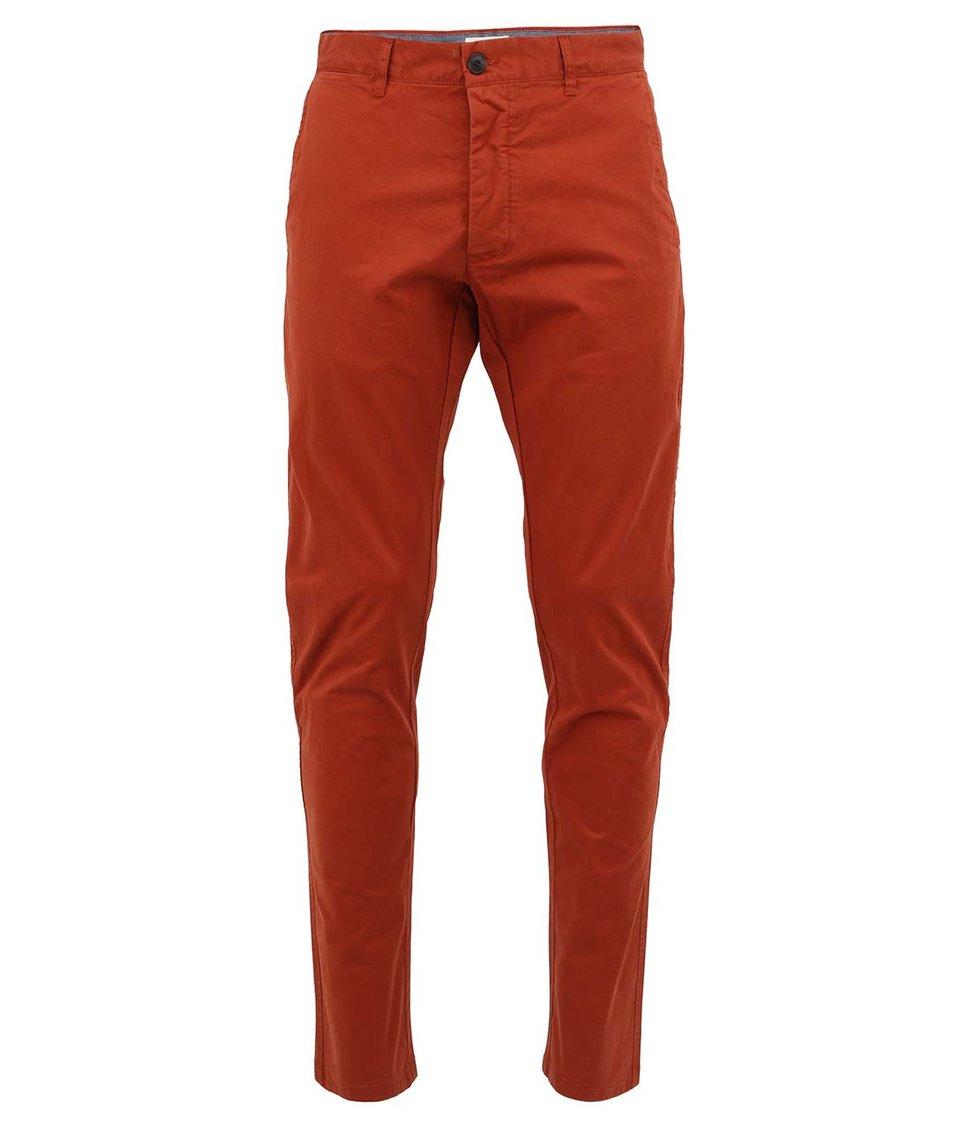 Cihlově čevené kalhoty Selected Luca