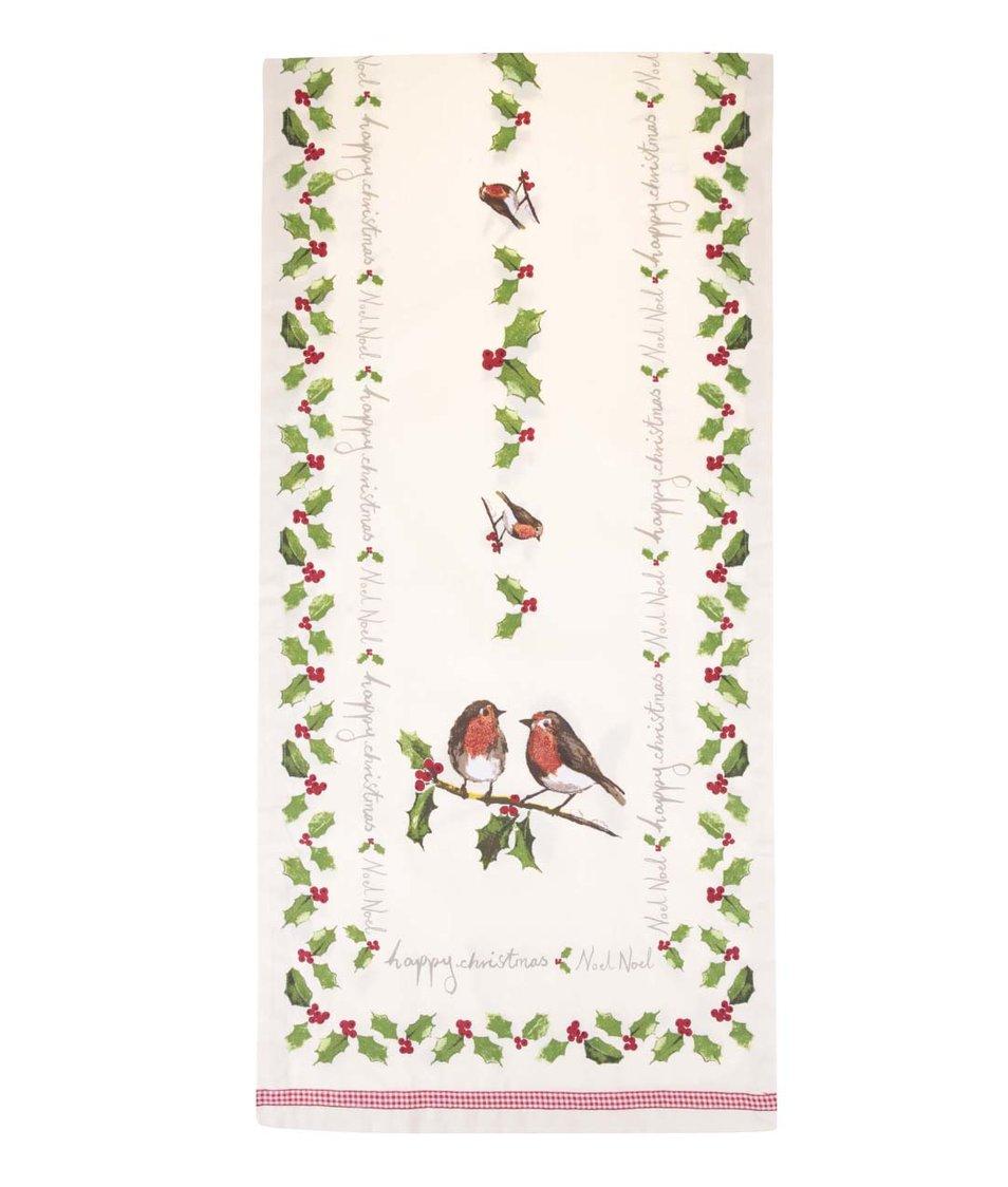 Krémový běhoun s vánočním motivem Cooksmart Garden