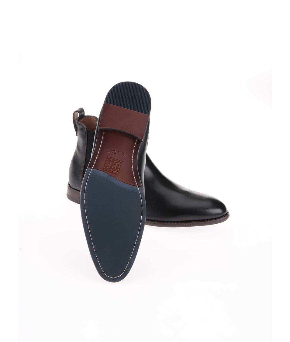 Černé pánské kožené chelsea boty ALDO Merin