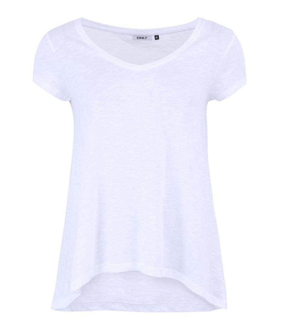 Bílé volnější tričko ONLY Gold