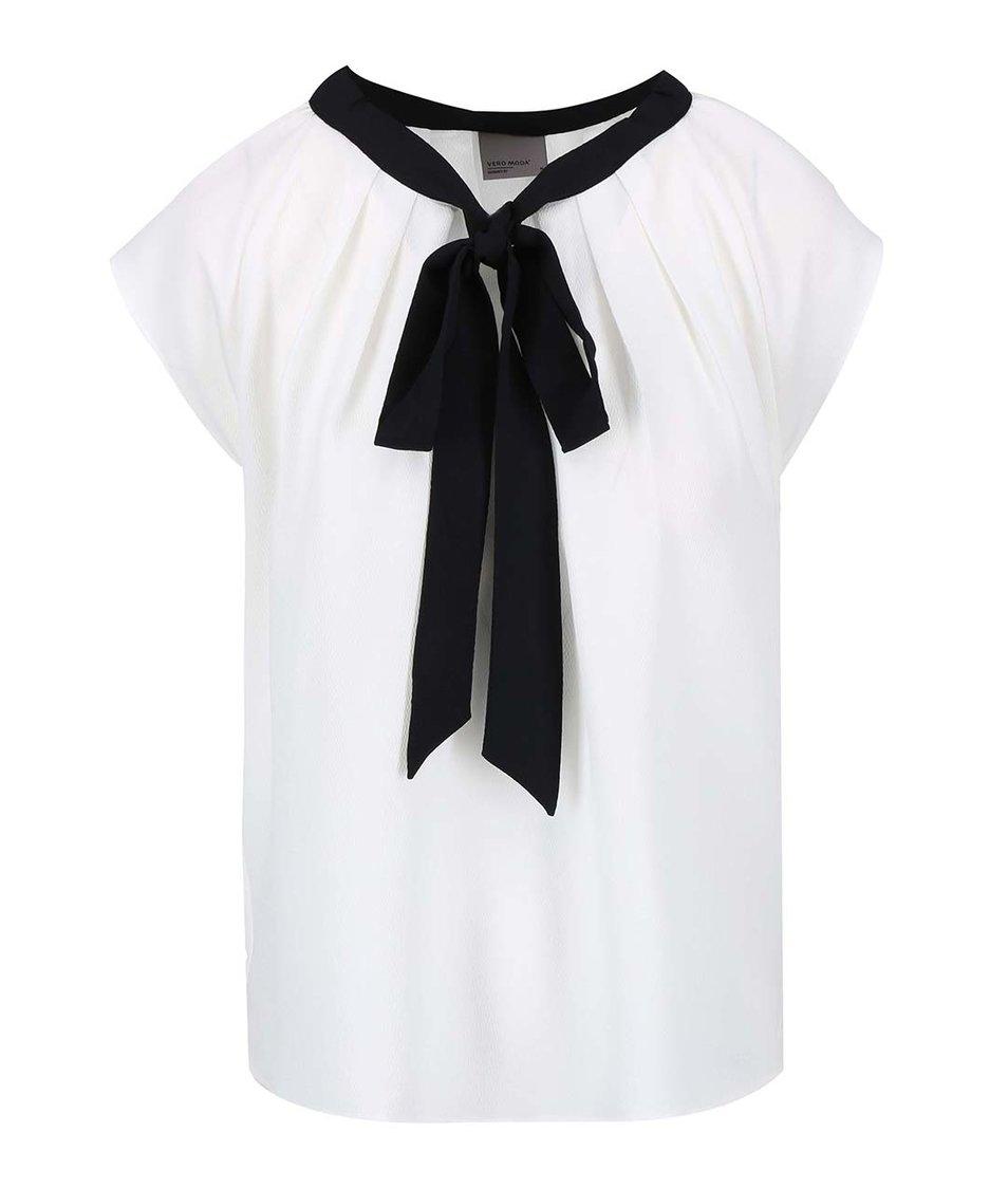 Bílá halenka s mašlí Vero Moda Stein