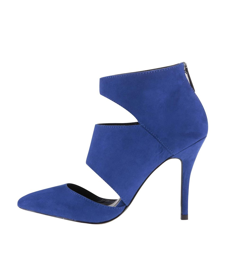 Modré sandálky na podpatku ALDO Flemings