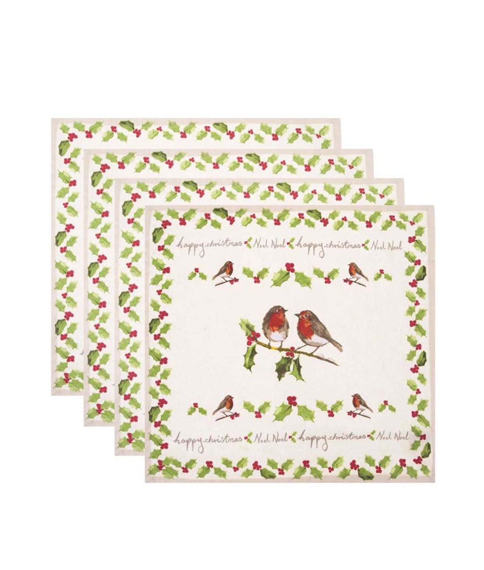 Sada čtyř vánočních ubrousků Cooksmart Garden