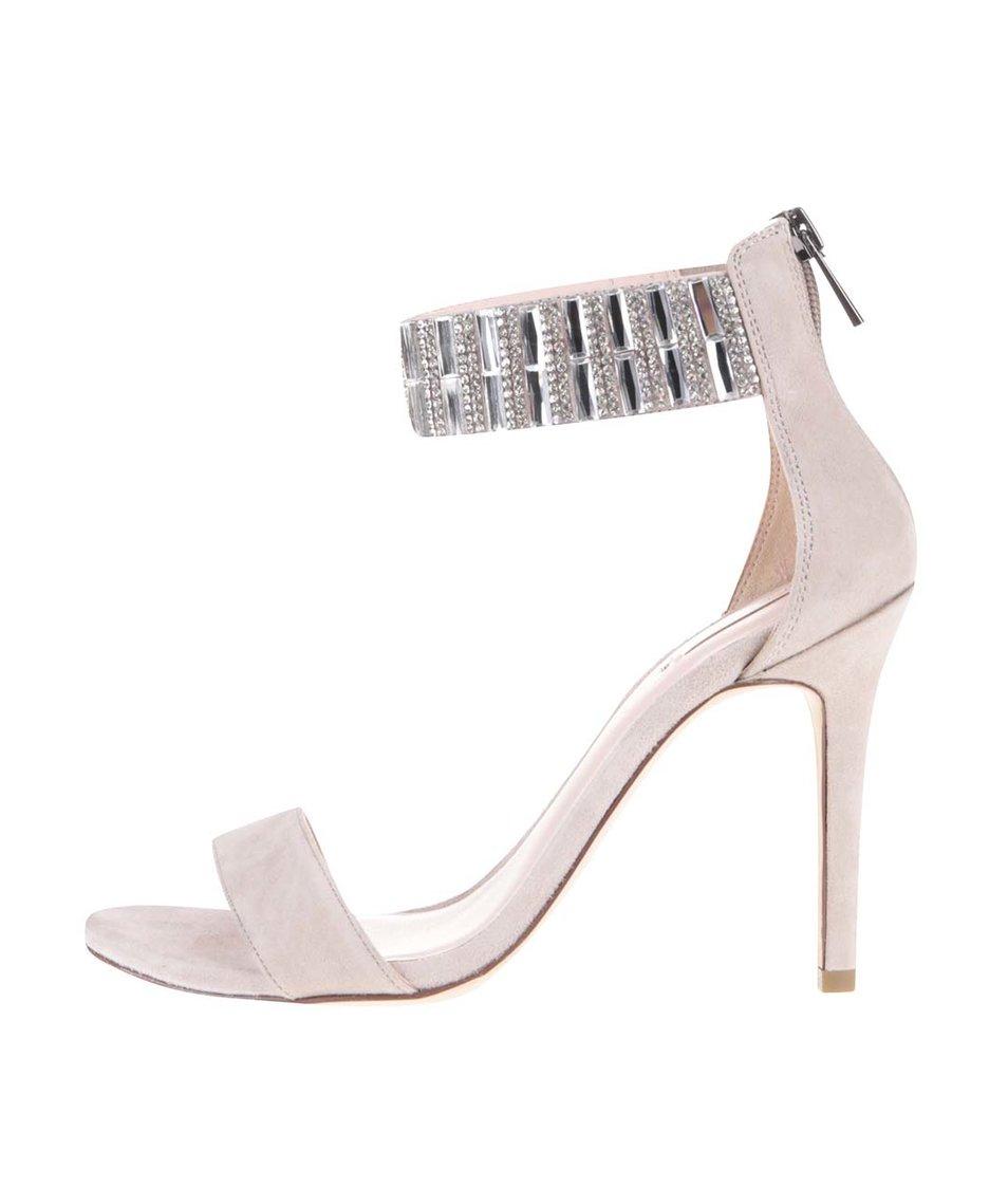 Krémové kožené sandálky na podpatku Aldo Galenadd