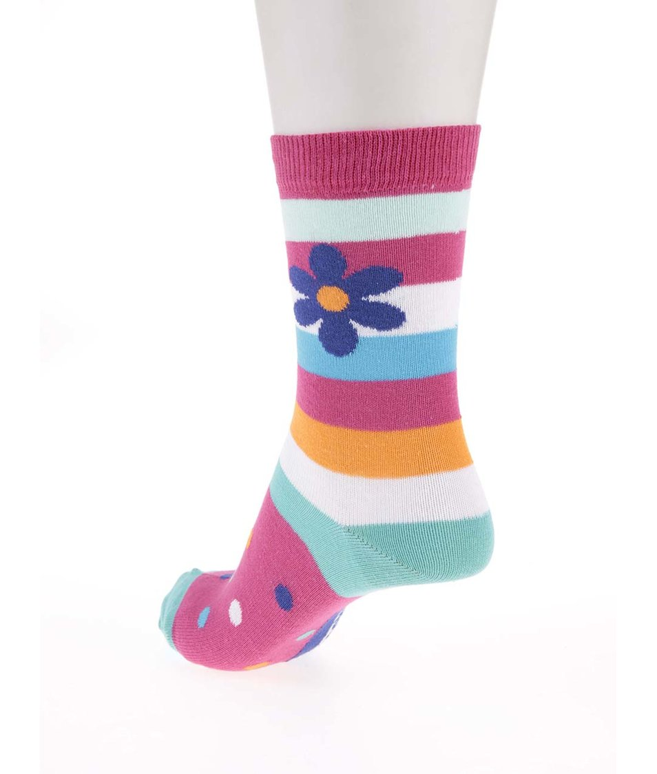 Sada tří barevných dámských ponožek se vzorem Oddsocks Daisy