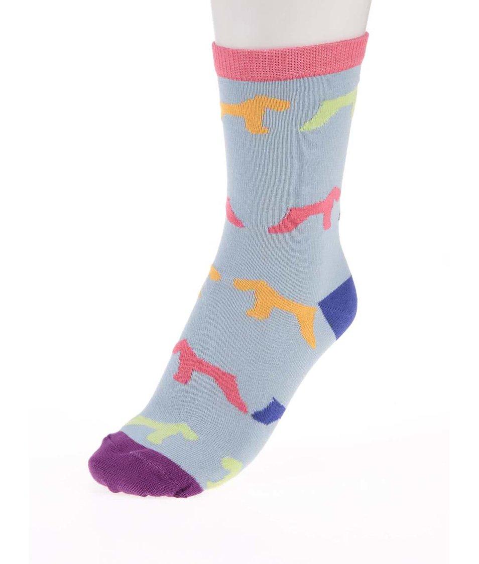 Sada tří barevných dámských ponožek se vzorem Oddsocks Hound