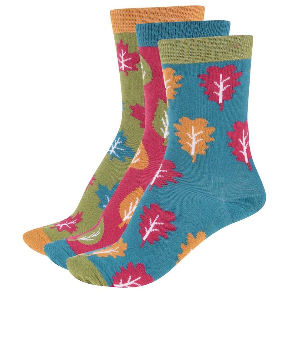 Sada tří barevných dámských ponožek se vzorem Oddsocks Hazel