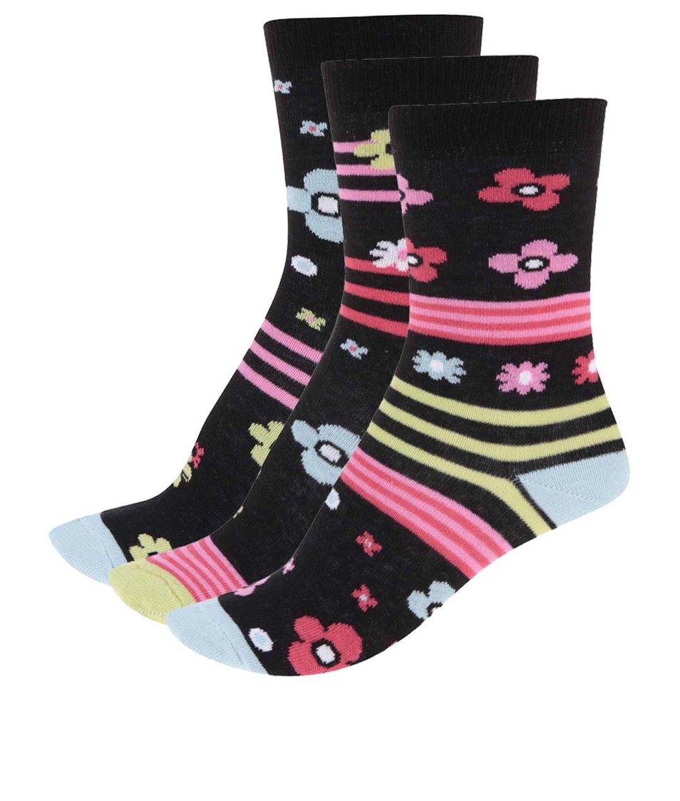 Sada tří barevných dámských ponožek se vzorem Oddsocks Zingy