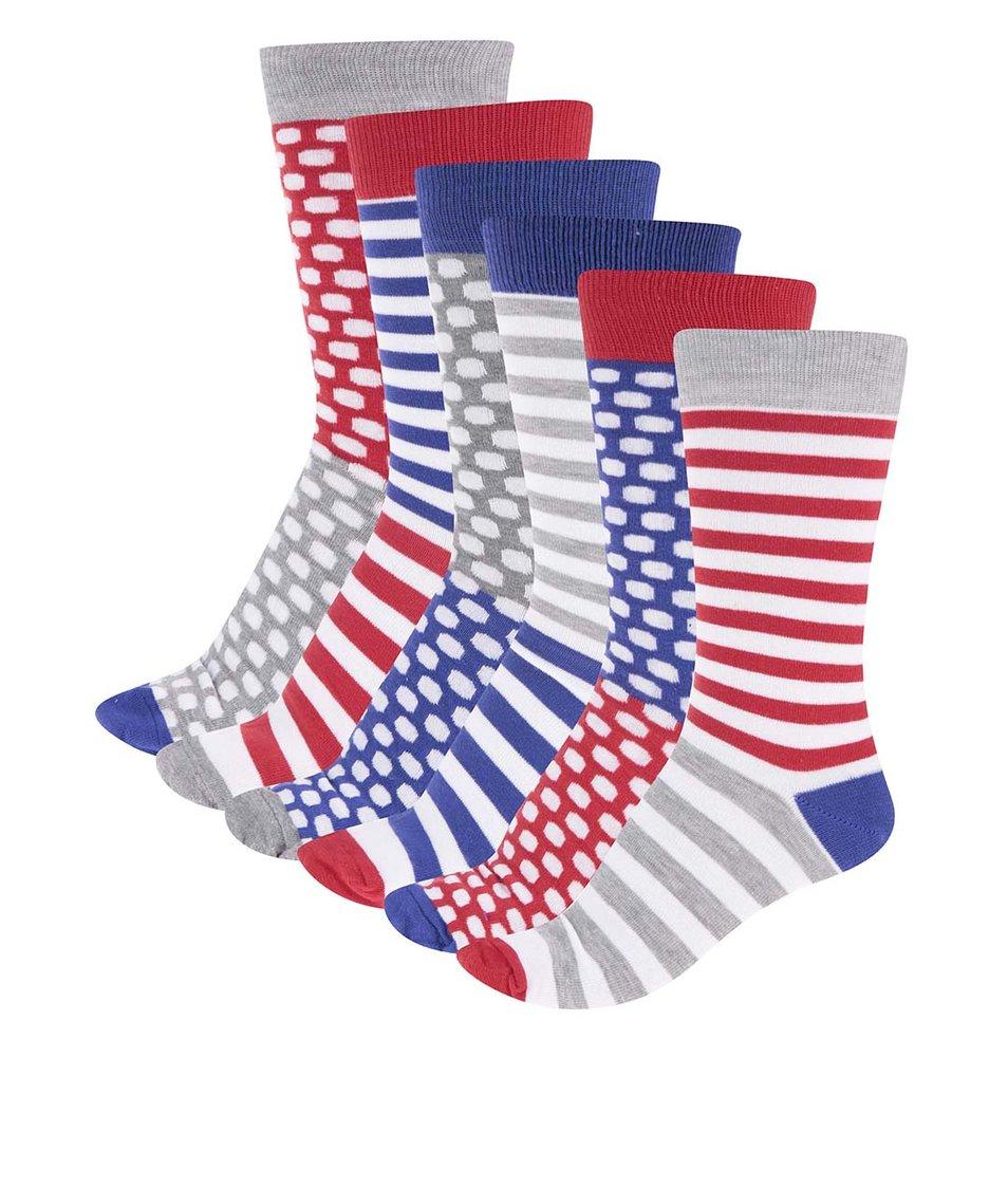 Sada šesti barevných pánských ponožek se vzorem Oddsocks Fresh