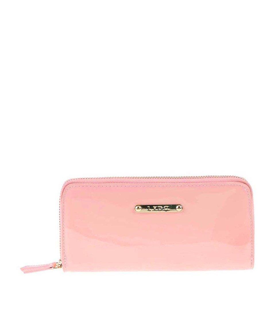 Růžová lesklá peněženka LYDC