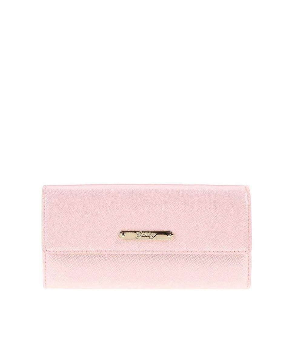Světle růžová lesklá peněženka Gessy