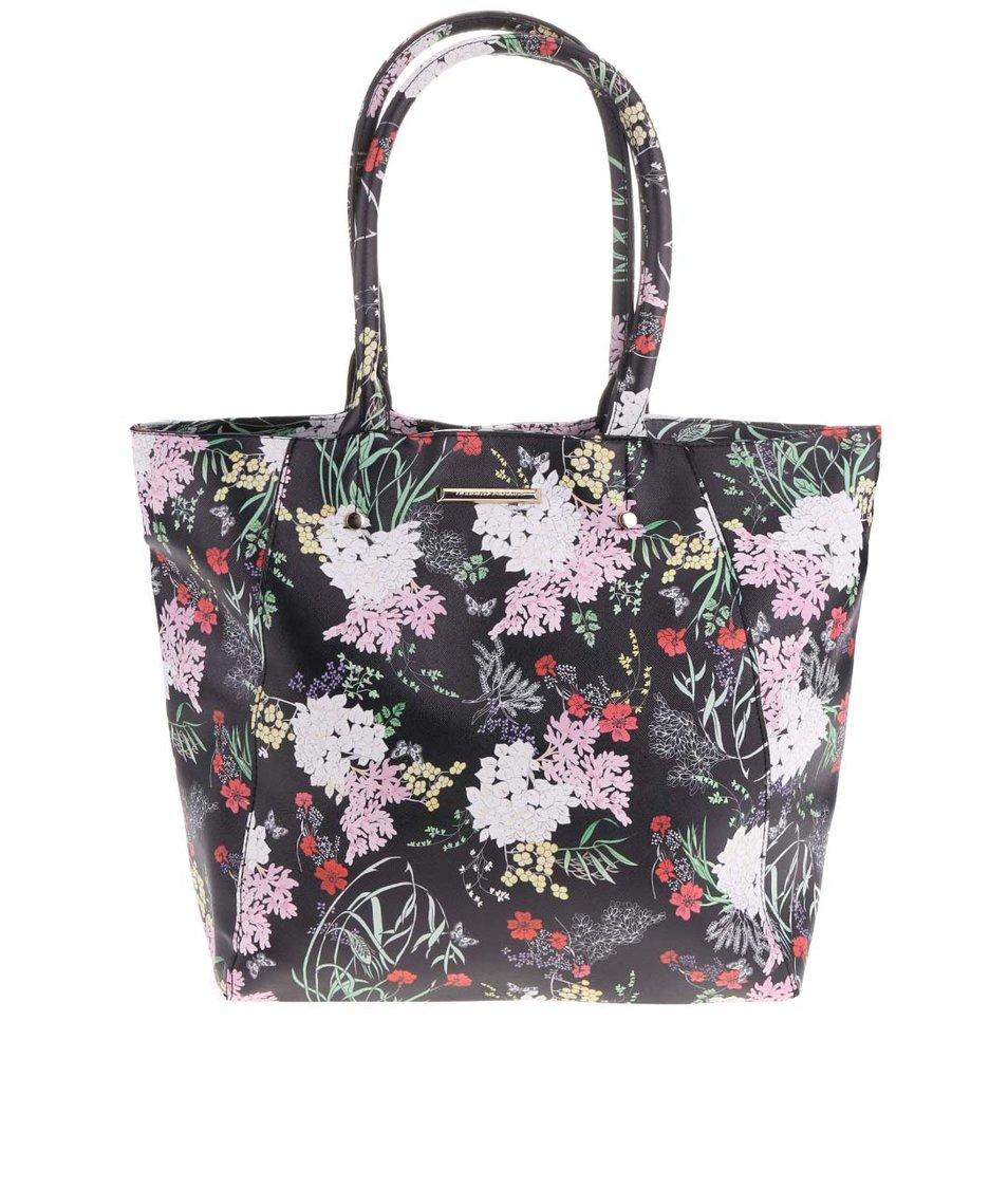 Černý shopper s květinovým potiskem Dorothy Perkins