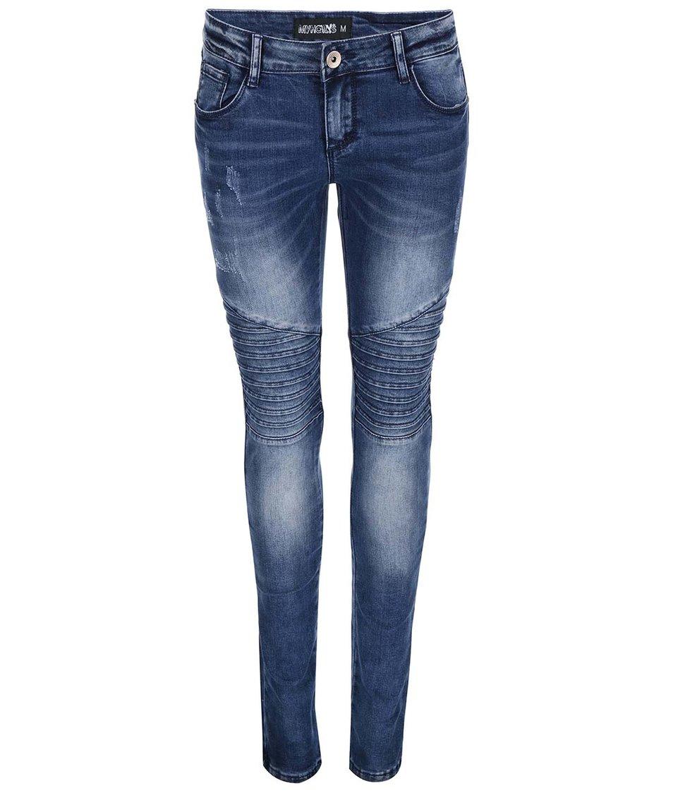 Modré dámské džíny s vzorováním Haily´s Olivia