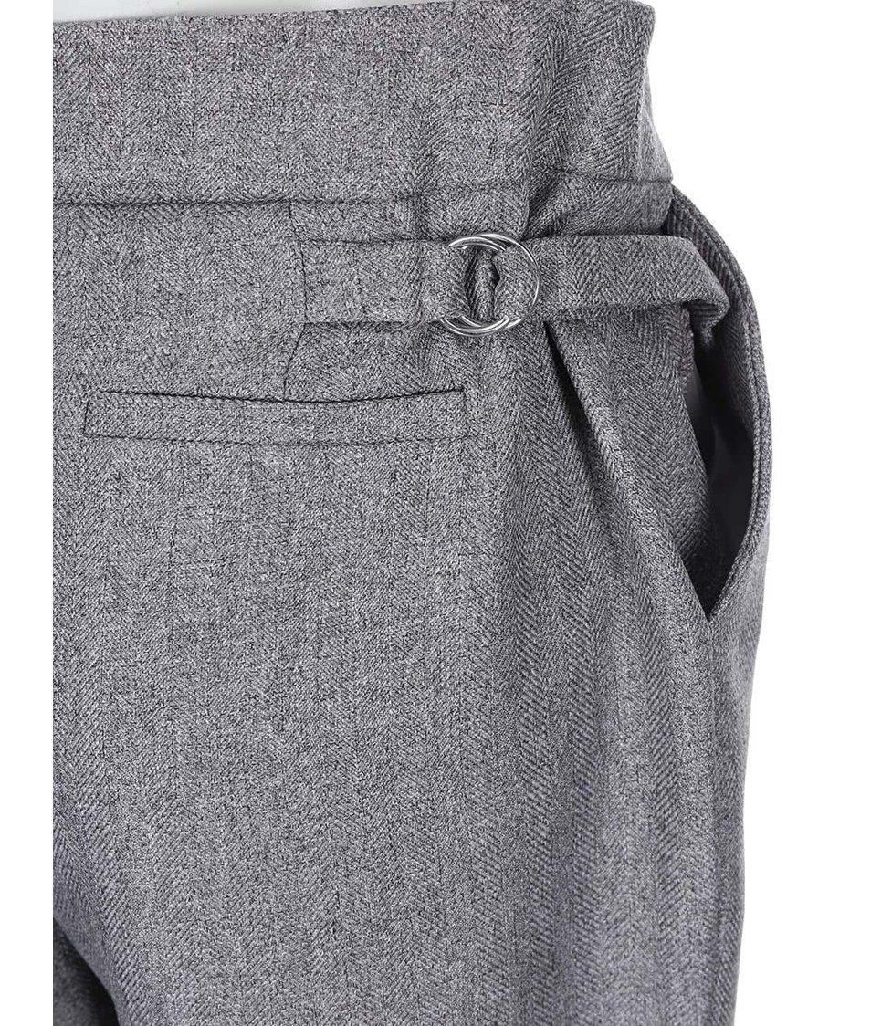 Šedé kalhoty s puky Dorothy Perkins