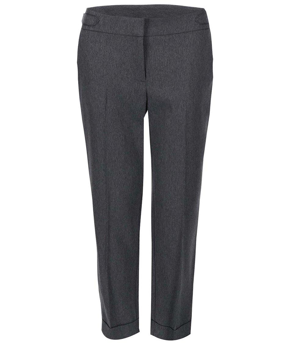 Tmavě šedé kalhoty s puky Dorothy Perkins