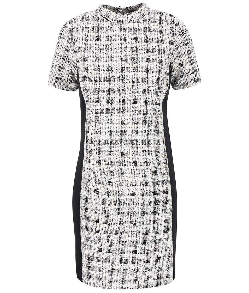 Černo-krémové vzorované šaty Dorothy Perkins
