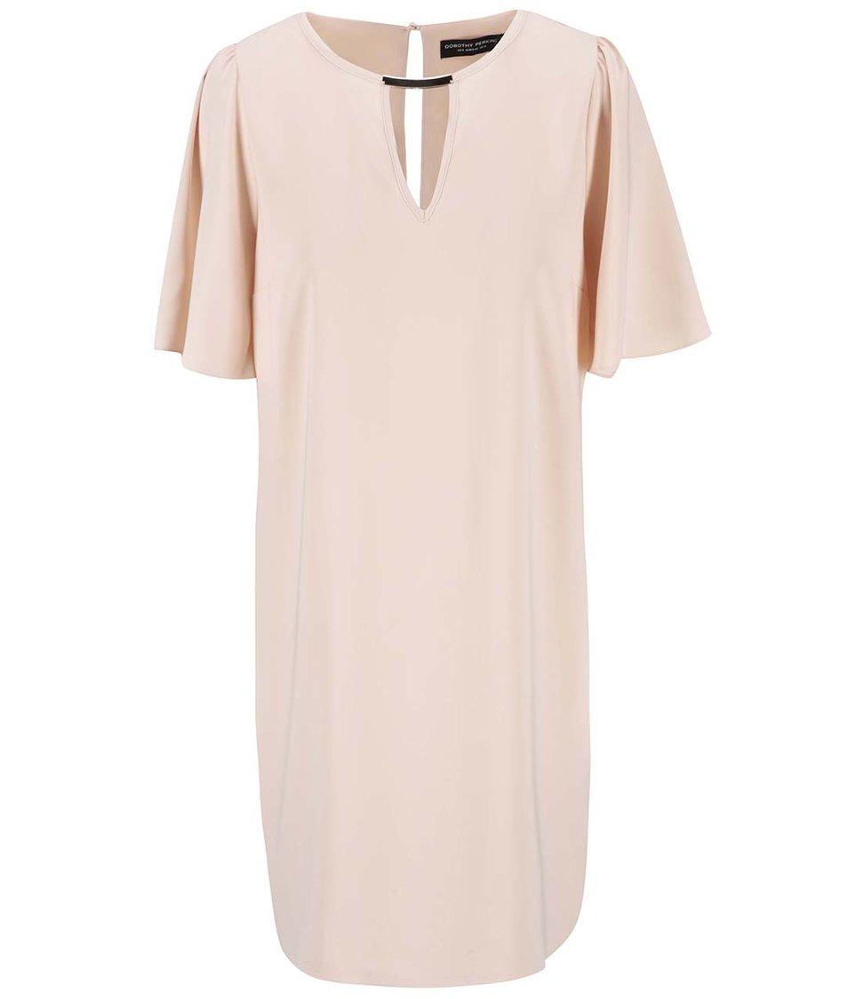 Meruňkové šaty s širokými rukávy Dorothy Perkins