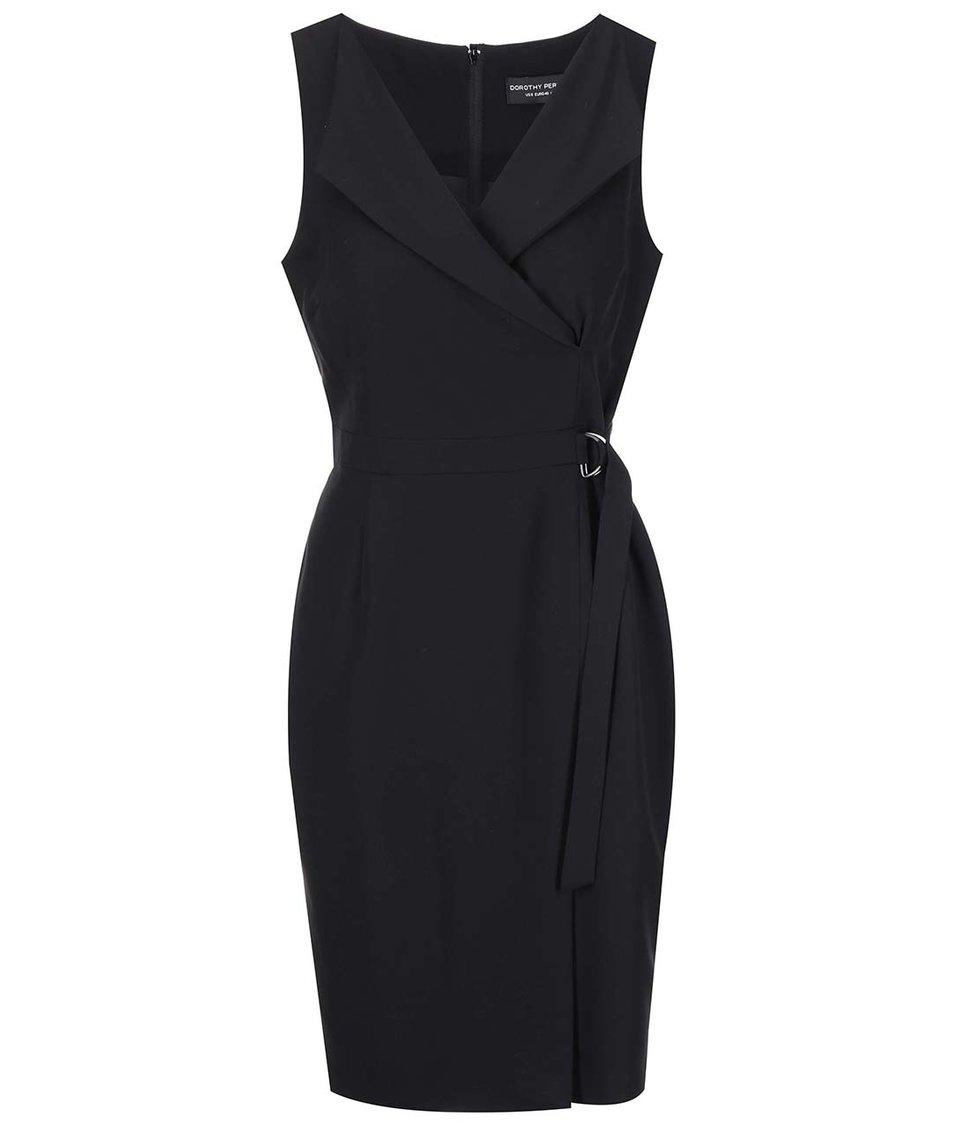 Černé pouzdrové šaty s výstřihem Dorothy Perkins