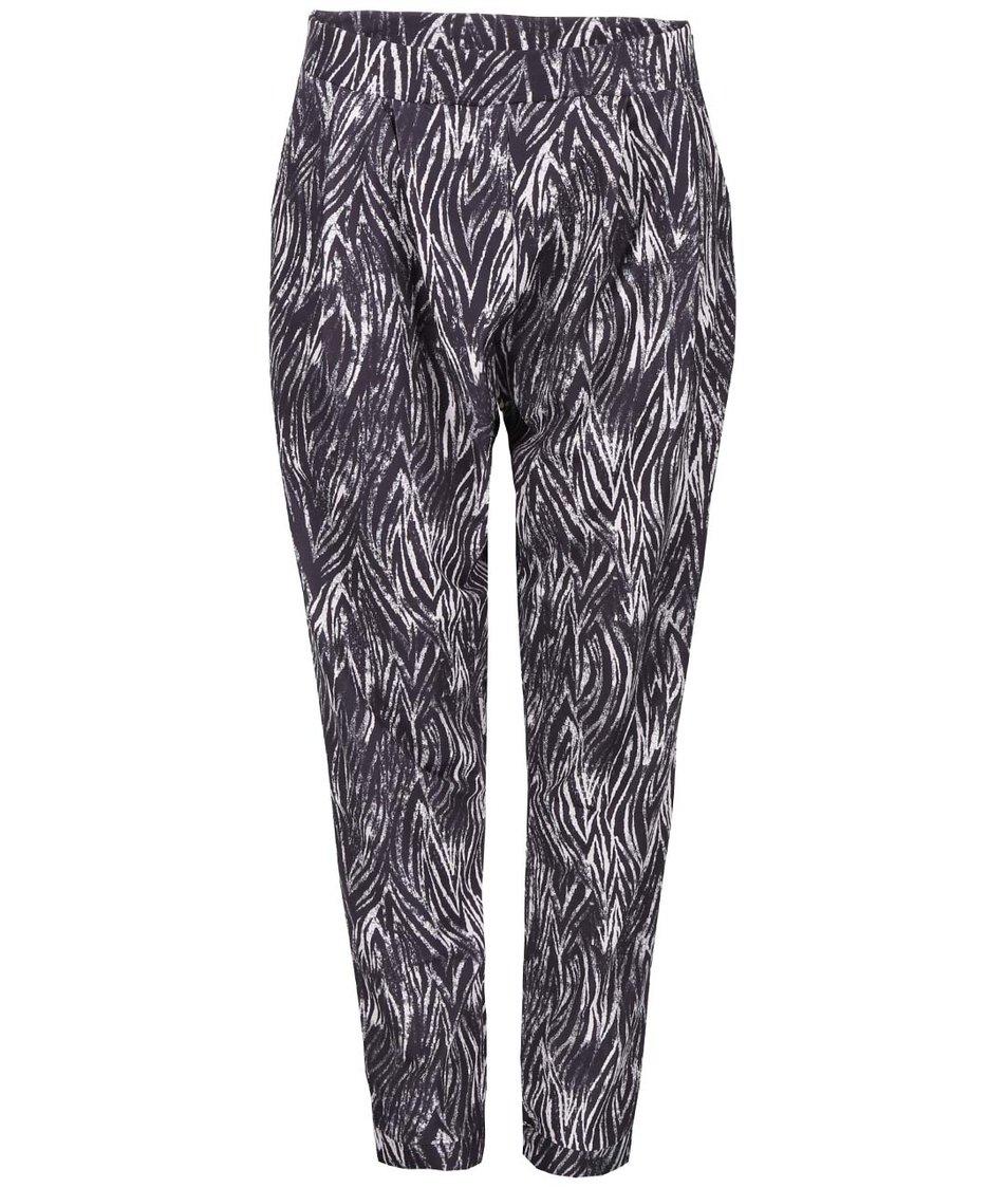 Krémovo-černé vzorované kalhoty Dorothy Perkins