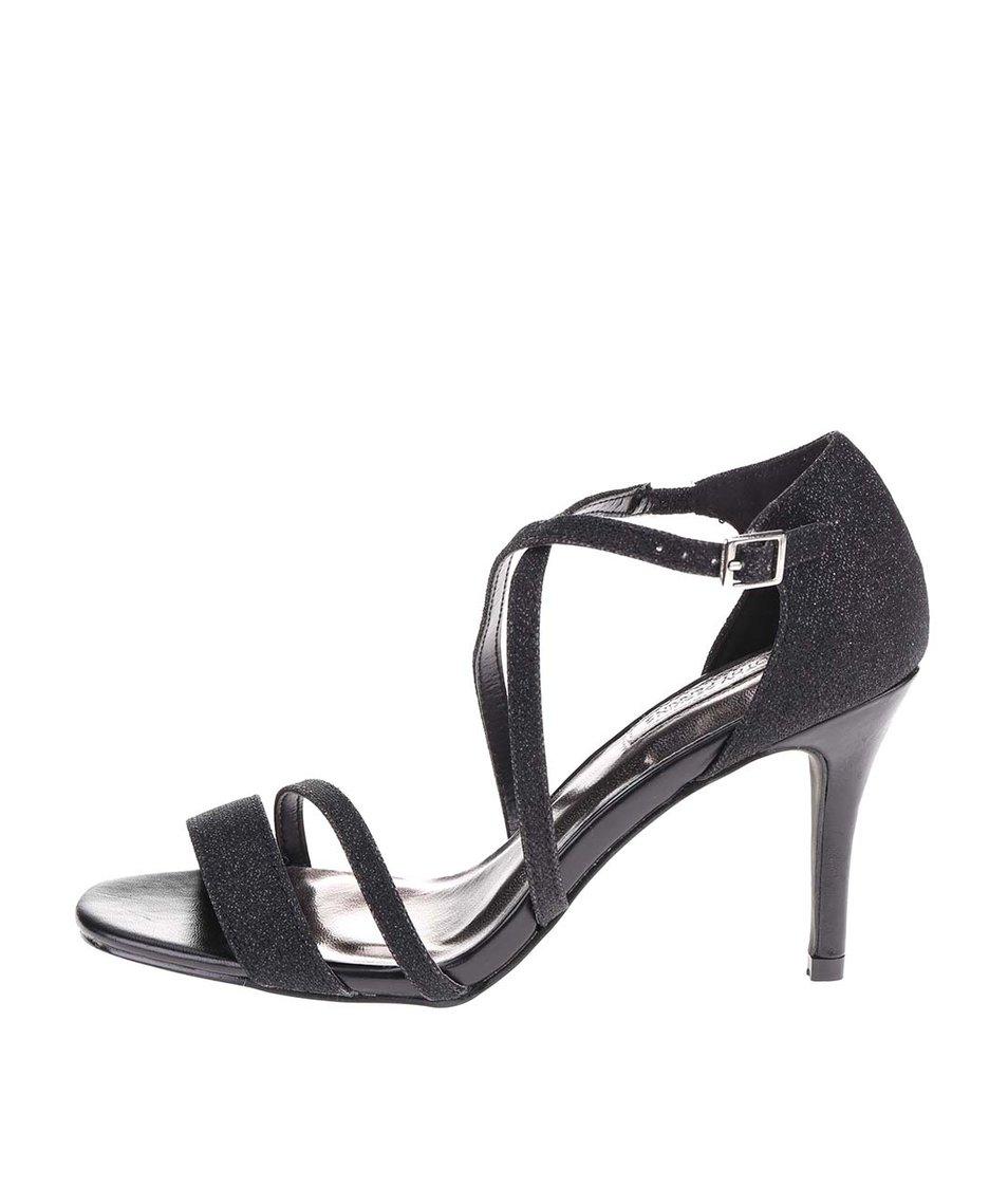 Černé páskové sandálky Dorothy Perkins