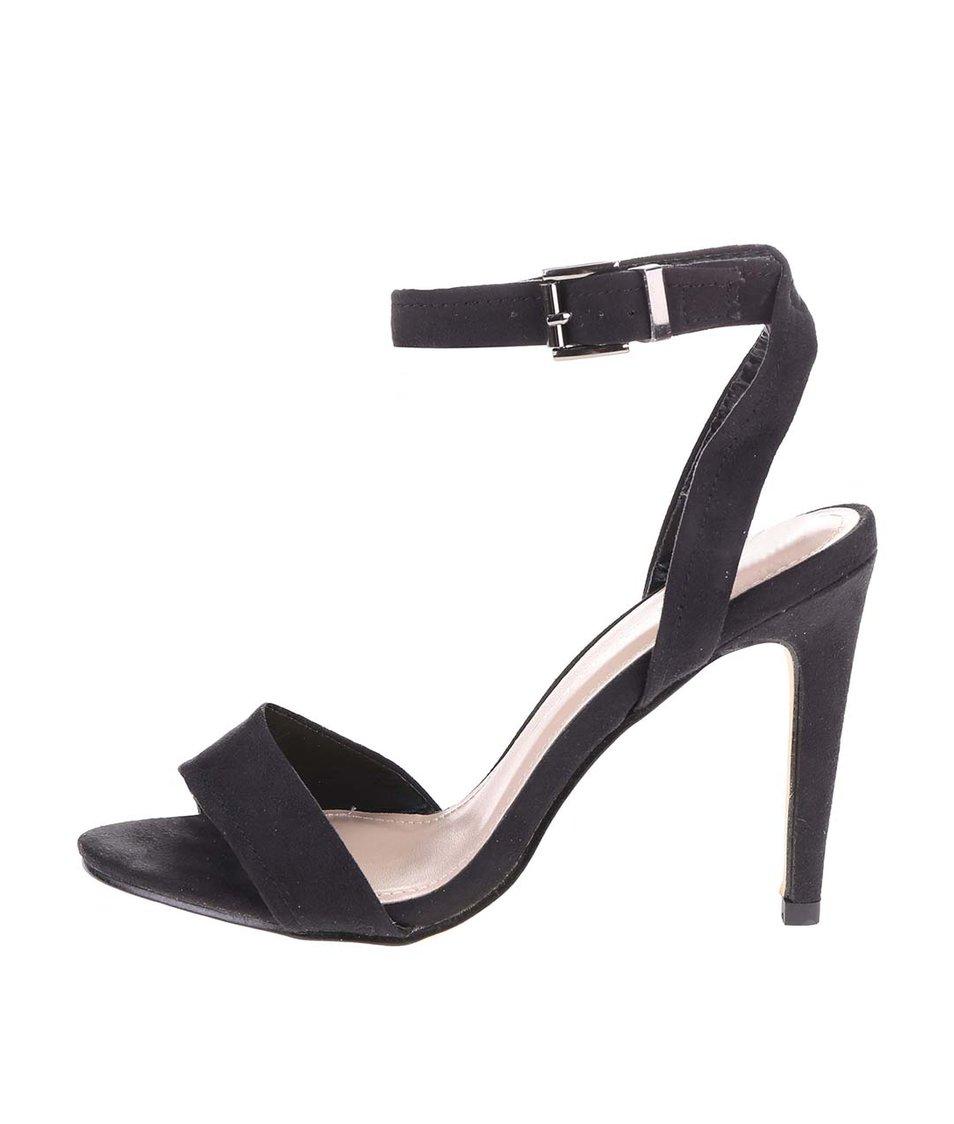 Černé páskové sandálky na jehlovém podpatku Dorothy Perkins