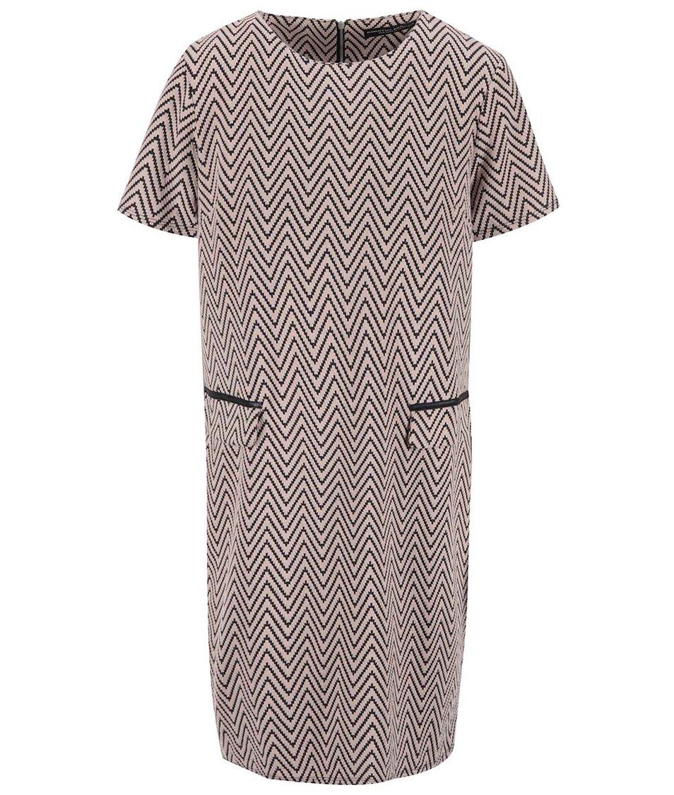 Pudrové růžové vzorované šaty Dorothy Perkins
