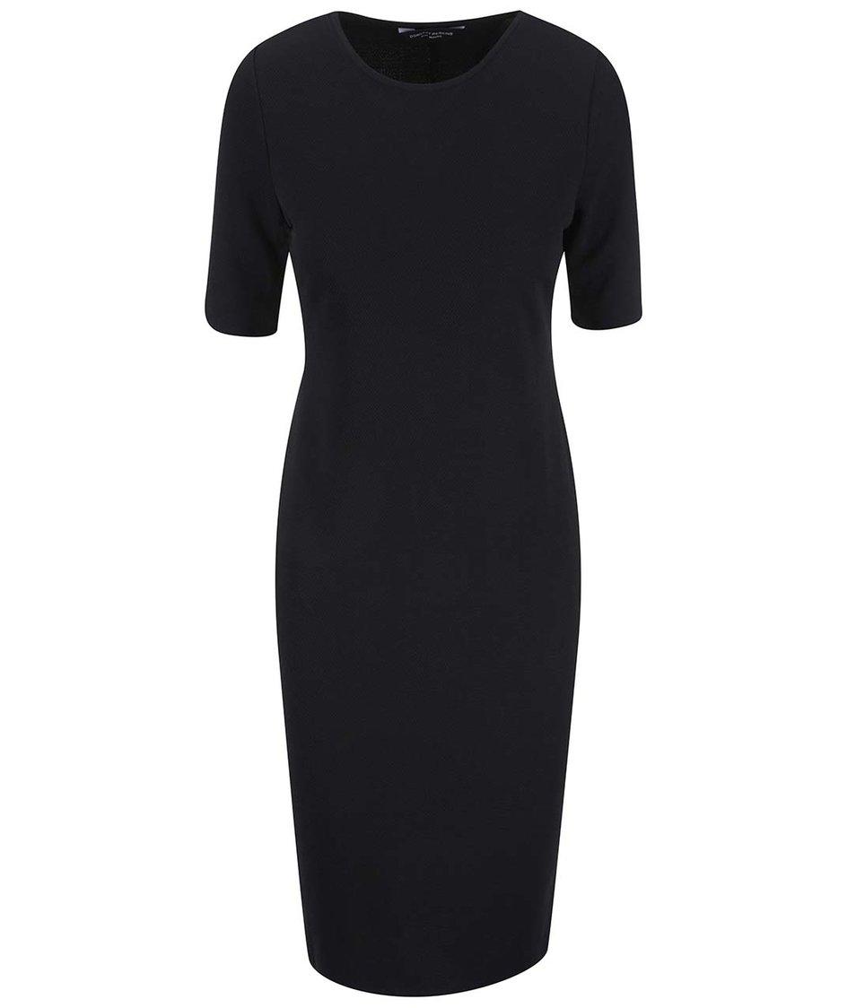 Černé pouzdrové šaty s krátkými rukávy Dorothy Perkins