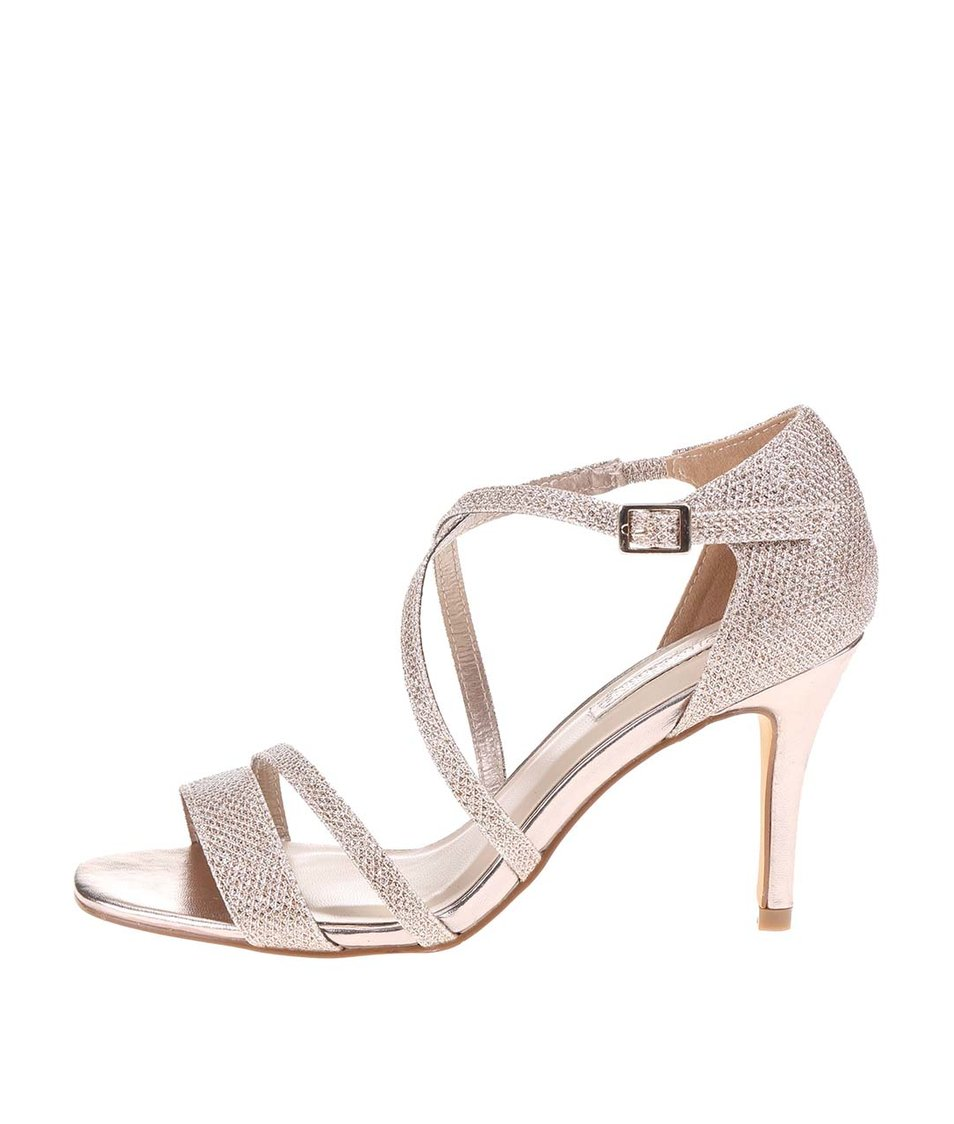 Páskové sandálky v zlaté barvě Dorothy Perkins