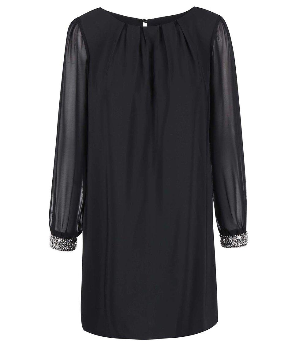 Černé šaty se zdobenými manžetami Dorothy Perkins