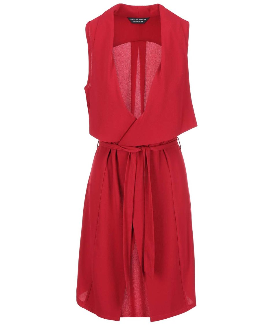 Červená dlouhá vesta Dorothy Perkins